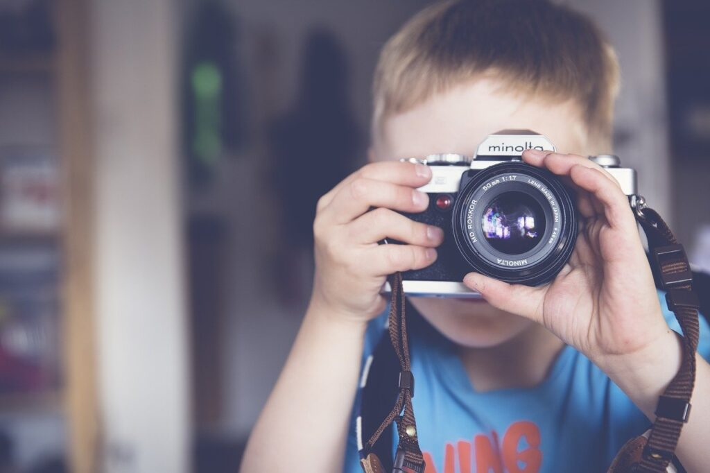 boy, photographer, camera